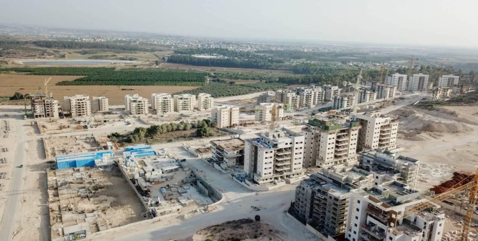 בנייה בשכונת הפרחים 2018