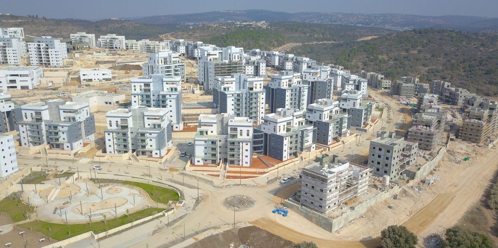 בנייה בשכונת בצוותא בחריש, נובמבר 2020
